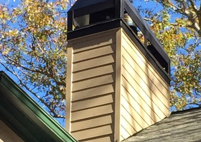 Siding Replacement On Chimney Peachtree City