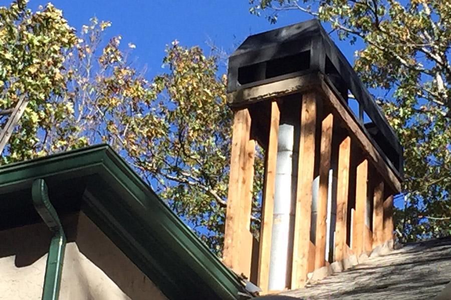 Siding Removed Chimney Peachtree City