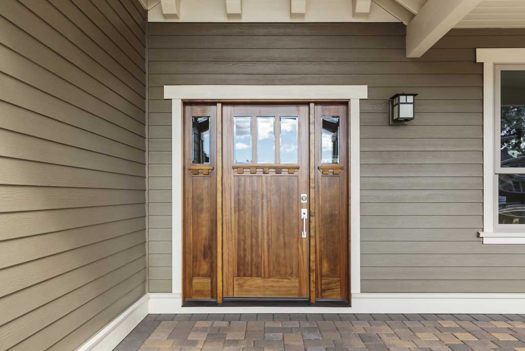 James Hardie Fiber Cement Siding Entryway