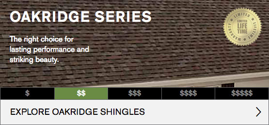 Oak Ridge Series Roofing Shingles Image